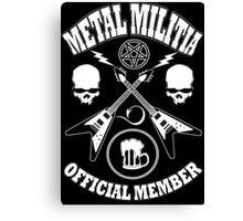 Metal Militia Canvas Print