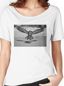 Great Grey Owl B&W Women's Relaxed Fit T-Shirt