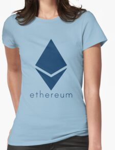 Ethereum Blue (Flat) Womens Fitted T-Shirt