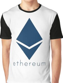 Ethereum Blue (Flat) Graphic T-Shirt