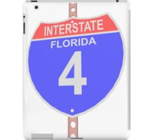 Interstate highway 4 road sign in Florida iPad Case/Skin