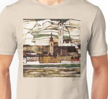 Egon Schiele Impressionistic Town Unisex T-Shirt