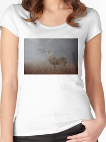 Big Buck - White-tailed deer Women's Fitted Scoop T-Shirt