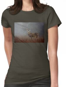 Big Buck - White-tailed deer Womens Fitted T-Shirt