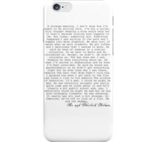 JOHNLOCK| John Writes About Meeting Sherlock iPhone Case/Skin