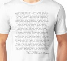 JOHNLOCK| John Writes About Meeting Sherlock Unisex T-Shirt