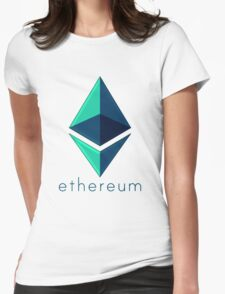 Ethereum metalic green  Womens Fitted T-Shirt