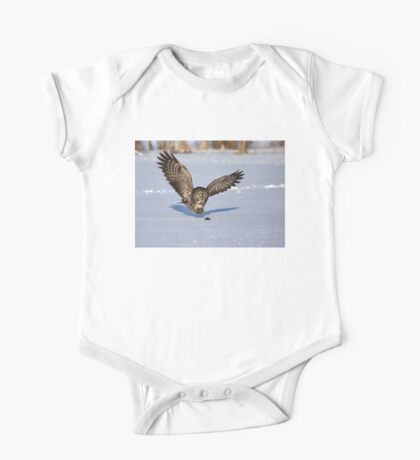 Great Grey owl catches a mouse One Piece - Short Sleeve
