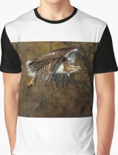 Red-tailed Hawk - Bullet Graphic T-Shirt