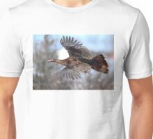 Turkey Flying - Wild Turkey Unisex T-Shirt