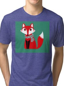 FOX WITH SCARF Tri-blend T-Shirt