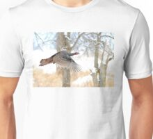 As God as my Witness... Wild Turkeys can fly! Unisex T-Shirt
