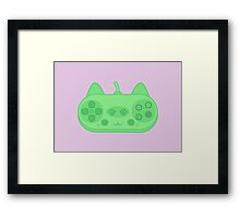 Cute kitty controller Framed Print