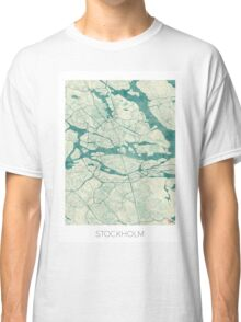 Stockholm Map Blue Vintage Classic T-Shirt