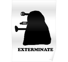EXTERMINATE DALEK IN THE SHADOWS Poster