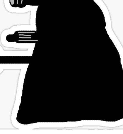 EXTERMINATE DALEK IN THE SHADOWS Sticker