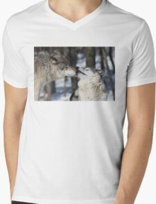 Timber Wolves in love Mens V-Neck T-Shirt