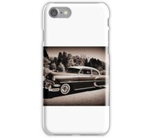 Classic car on the move 2 iPhone Case/Skin