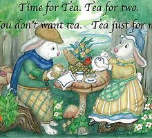 Time For Tea Bunnies by L.W. Turek
