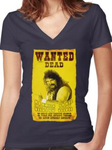 cactus jack t shirt Women's Fitted V-Neck T-Shirt