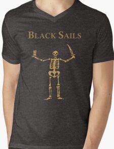 Captain Flint's Flag Mens V-Neck T-Shirt