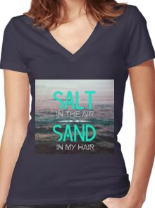 Salt and Sand Women's Fitted V-Neck T-Shirt