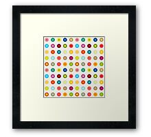 Small vintage and colourful circles Framed Print