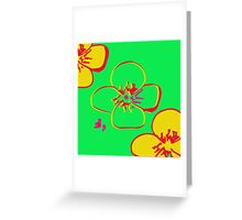 Contaminated Flowers Collection - Lime & Yellow Greeting Card