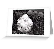 Backyard Buddha Greeting Card