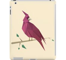 Low Poly Red Cardinal iPad Case/Skin