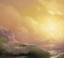 The Ninth Wave - Ivan Aivazovsky Sticker