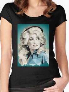 Dolly Parton Pixel Art Women's Fitted Scoop T-Shirt