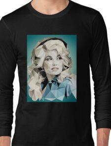 Dolly Parton Pixel Art Long Sleeve T-Shirt