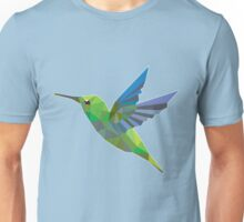 Low Poly Humming Bird Unisex T-Shirt