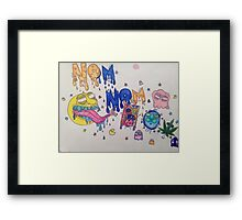 Nom Nom Pacman Framed Print