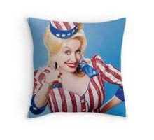 Sexy dolly parton Throw Pillow