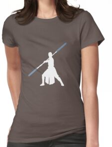 Star Wars - Rey blue lightsaber (white) Womens Fitted T-Shirt