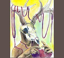 Knitting Deer Mens V-Neck T-Shirt