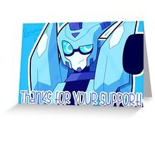 Support Card #5 TFA Blurr Greeting Card
