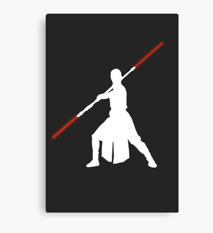 Star Wars - Rey red lightsaber (white) Canvas Print