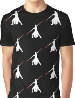 Star Wars - Rey red lightsaber (white) Graphic T-Shirt