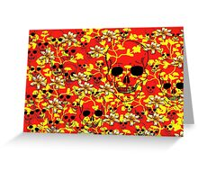Skull with Flower Design Greeting Card