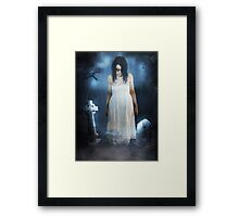 Woman in White Framed Print