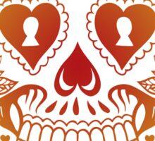 Chi Omega Skull Sticker