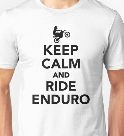 Keep calm and ride Enduro Unisex T-Shirt