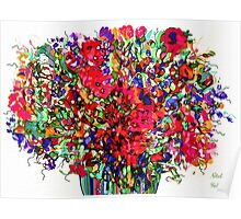 Springs Flowers Abstract Poster