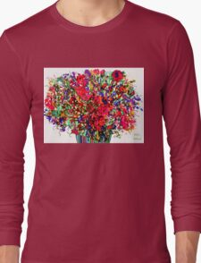 Springs Flowers Abstract Long Sleeve T-Shirt