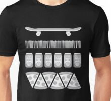Skate & Pizza & Beer & Wake & Bake Unisex T-Shirt