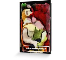 picasso graffiti # 6 - crime scene portrait Greeting Card