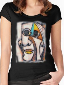 picasso graffiti # 5 Women's Fitted Scoop T-Shirt